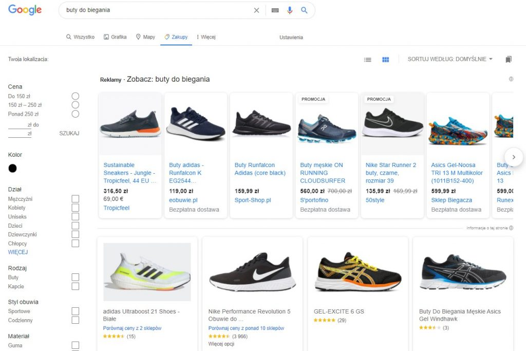 google-shopping-sortowanie